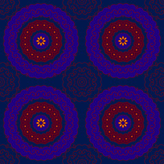 indian blue pattern