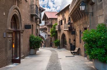 Fototapeta Poble Espanyol - tradycyjne architektury w Barcelonie, Hiszpania