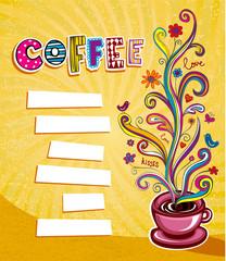 Coffee theme Background.