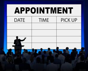 Appointment Schedule Memo Management Organizer Urgency Concept