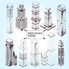 Sketch Isometric Buildings