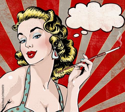 pop-art-kobieta-z-dymek-i-papierosow