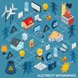 Electricity Isometric Flowchart - 78626628