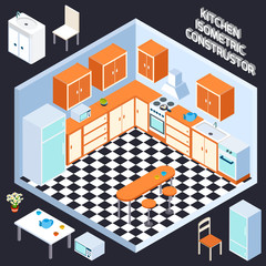 Isometric Kitchen Interior