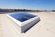 flat roof on industrial hall - 78626819