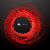 Abstract swirl red background. Vector Illustration