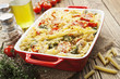 canvas print picture - Casserole pasta with chicken and broccoli