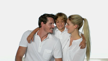 Young couple with son