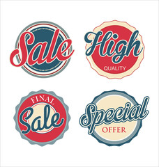 Set of sale badges