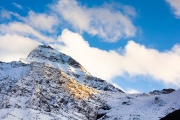mountain snow landscape nature