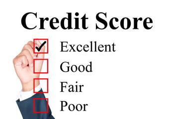 Credit score evaluation form