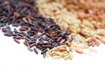 Three variety kinds of brown rice