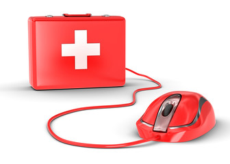 mouse and medical kit