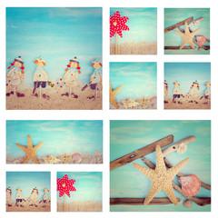 Collage - Sommerzeit am Strand