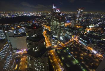 大都会東京イメージ 新宿高層ビル街から望む東京全景 南西の方角