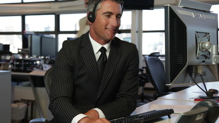 Male call center operator