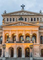 Alte Oper in Frankfurt. Night view.