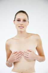 Bare chested woman