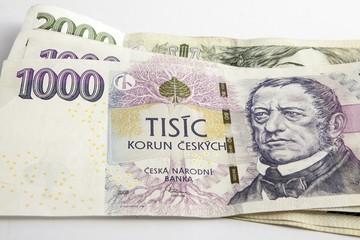 Czech korunas CZK, banknotes