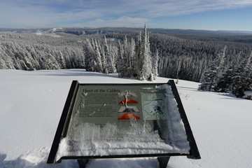 Information sign in snow