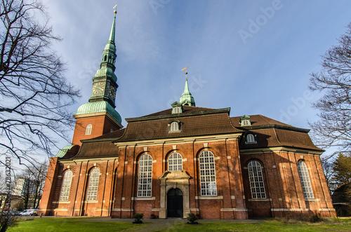 canvas print picture Hauptkirche St Trinitatis Altona Hamburg
