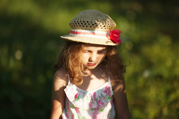 Little girl in a hat