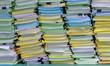 Leinwanddruck Bild - the stack of document in the office