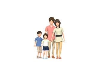 出かける家族