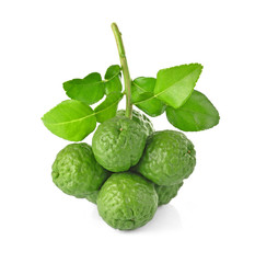 Bergamot isolated white background.