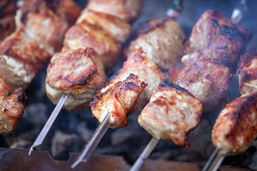 Hot Pork Kebabs with Smoke