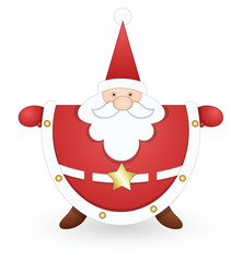 Classical Santa Vector Illustration