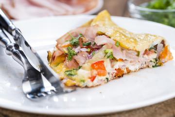 Fresh made Omelette (close-up shot)