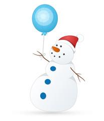 Cute Snowman Vector Illustration