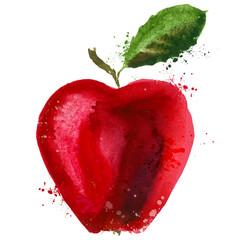 apple logo design template. food or fruit icon.