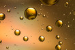 Oil and water abstract in metallic gold and brown - 78633830