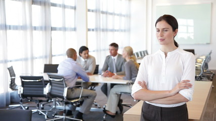 Woman in meeting room