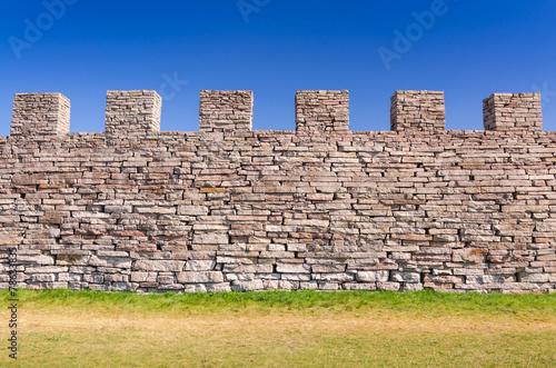 Staande foto Scandinavië Eketorp castle defense wall