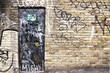 urban brick wall graffiti