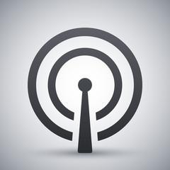 Vector broadcasting icon