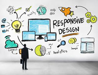 Responsive Design Internet Web Professional Businessman Concept