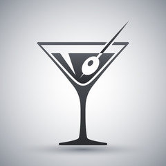 Vector martini glass icon