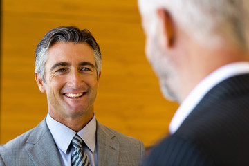 Dialoguing businessmen