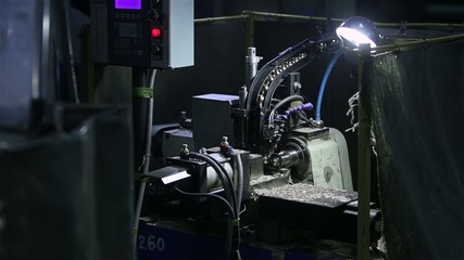 Tech machine at the factory. Processing details