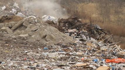 Garbage dump on the smoke