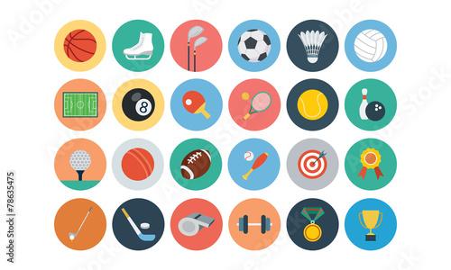 Sports Flat Icons - Vol 1 - 78635475