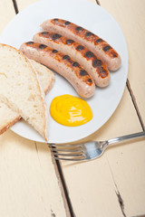 traditional German wurstel sausages
