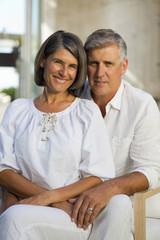 Senior couple sitting