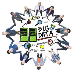 Diversity Business People Big Data Management Teamwork Concept