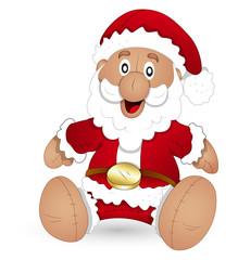 cartoon santa stuffed toy - Christmas Vector Illustration