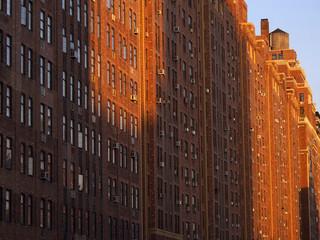Brick-built facade of New York